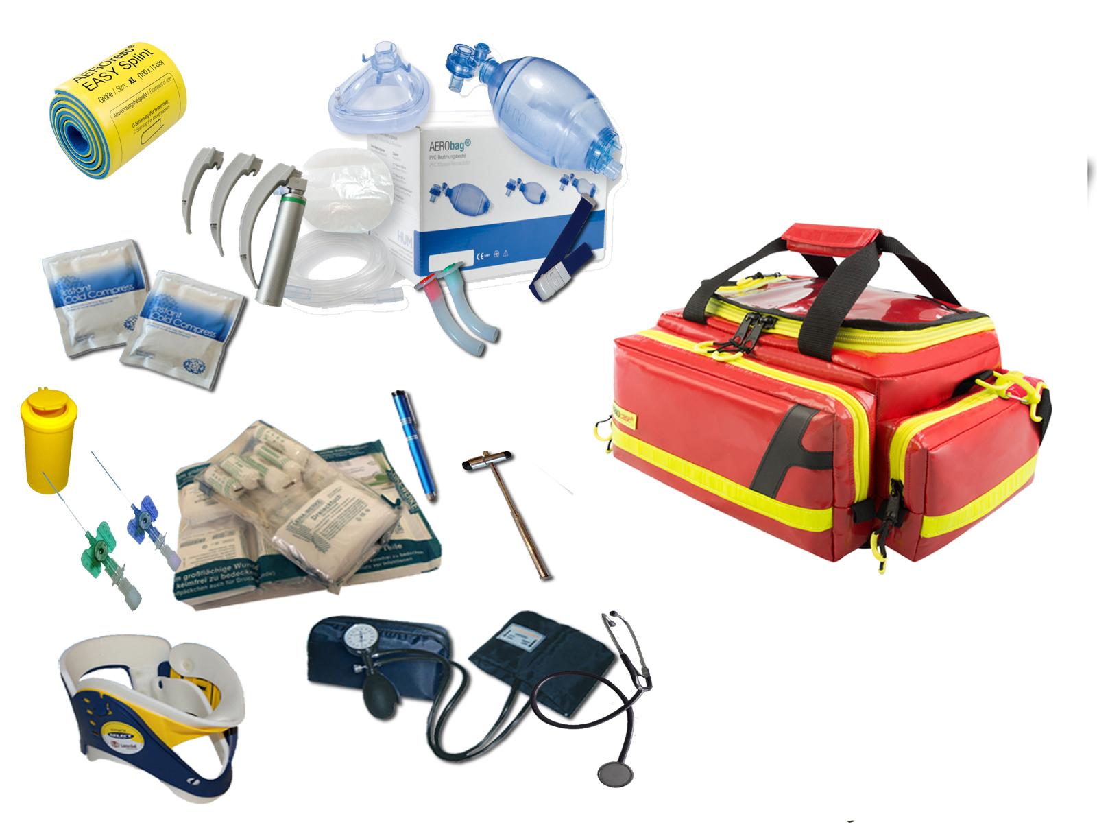 Notfalltaschen mit Füllung